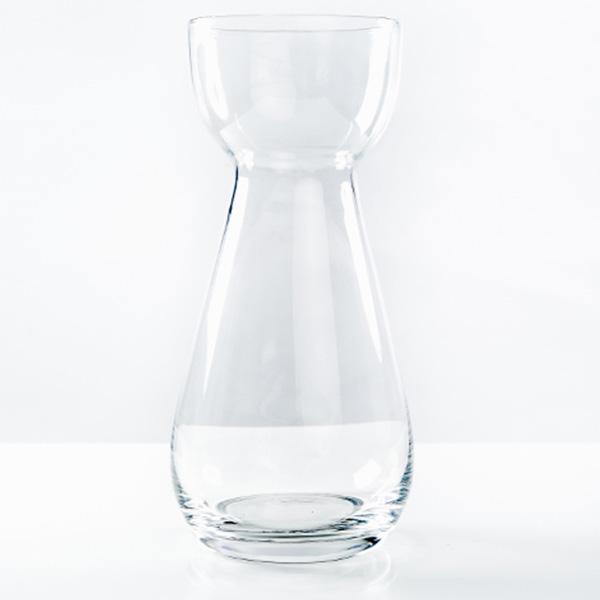 Glas_Vase_bauchig_klar_für_Blumen_Vintage_Dillingen
